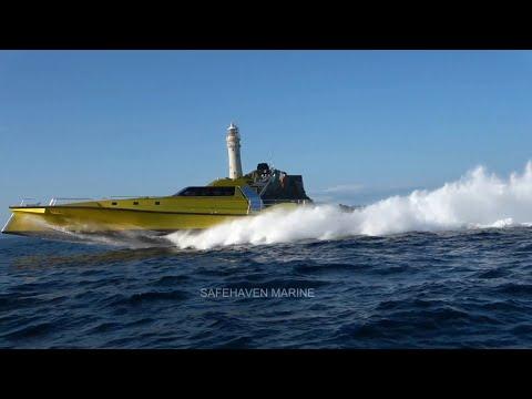 Video of Safehaven Marine's World powerboat record for Cork - Fastnet Rock – Cork averaging 44.6kts.