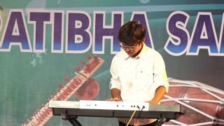 Keyboard Playing Performed  by  Student of Jaipur Sangeet Mahavidyalaya