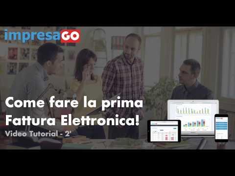 ImpresaGO Tutorial Prima Fattura Elettronica