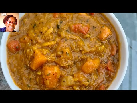 Sweet Potato And Lentil Curry / easy  lentil and sweet potato curry recipe / lentil curry recipe