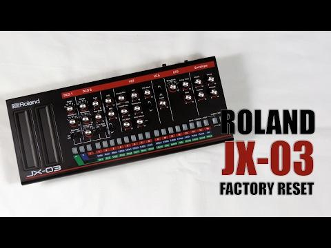 Roland JX-03 factory reset