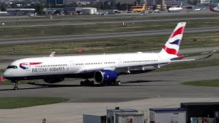 BA Airbus A350-1000 Flight Test at Toulouse-Blagnac Airport