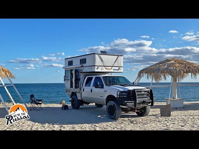 BEACH CAMPING IN BAJA CALIFORNIA, MEXICO   Overland Truck Camper