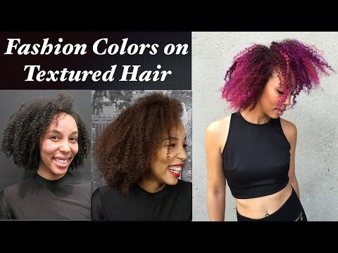 Fashion Colors on Textured Hair