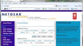 how to setup port forwarding on netgear dg834g router