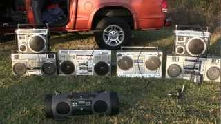 Ultimate Boombox Showdown Comparison STEREO Conion Fisher JVC Panasonic ( JVC 550 Win