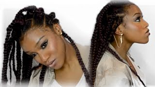individual crochet elastic band method   2 hr jumbo box braids hair giveaway closed