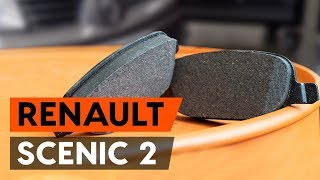 Hvordan bytte foran bremseklosser der på RENAULT SCENIC 2 (JM) [AUTODOC-VIDEOLEKSJONER]
