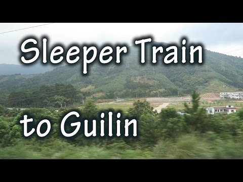 Riding a soft sleeper Chinese train from Shenzhen to Guilin