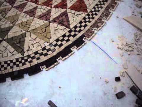 View general : workshop mosaic / Vue générale : atelier de la mosaïque