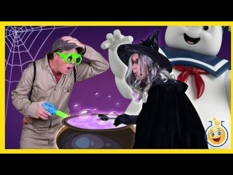 Ghost Chase w/ Real Life Size Marshmallow Man GIANT Spider Surprise Egg & Ghostb |Toys Review TV