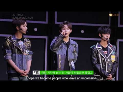 [ENGSUB][BOYS24 LIVE] 100 Seconds Comments for the 100th Show_Collab Unit Green