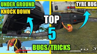 Free Fire : Top 5 New Bugs And Tricks To surprise Your Enemies   Underground knockdown Bug Free Fire