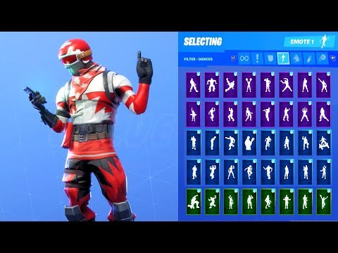 ALPINE ACE CAN SKIN SHOWCASE WITH ALL FORTNITE DANCES & EMOTES