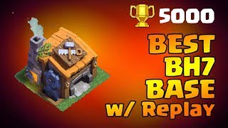 STRONGEST: COC BUILDER HALL 7 (BH7) BASE ANTI 2 STAR w/REPLAY | ANTI ALL MAX TROOPS | CLASH OF CLANS