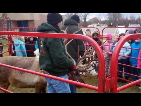 Santa's reindeer drop by Mecosta Elementary School