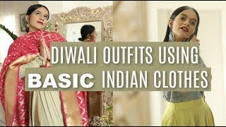 Diwali Outfits From BASIC Indian Clothes! | Komal Pandey