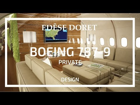 Private Boeing 787-9 Dreamliner 'Living Wall' designed by Edése Doret