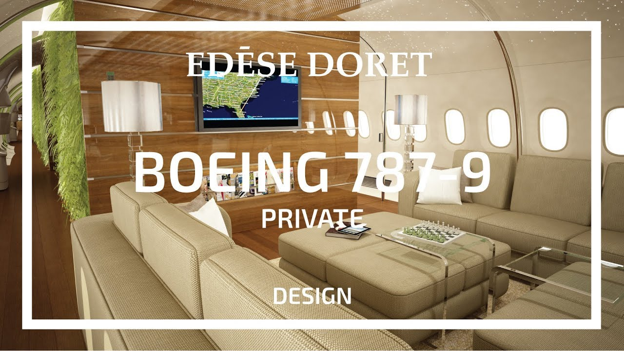 Private boeing 787 9 dreamliner 39 living wall 39 designed by - How to make a living wall ...