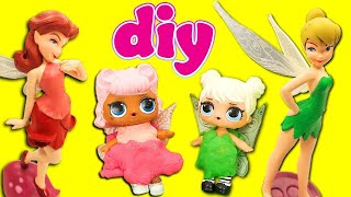 LOL Surprise Doll CUSTOM Tinkerbell and Rosetta Fairies! Starring Curious Cutie and Angel!