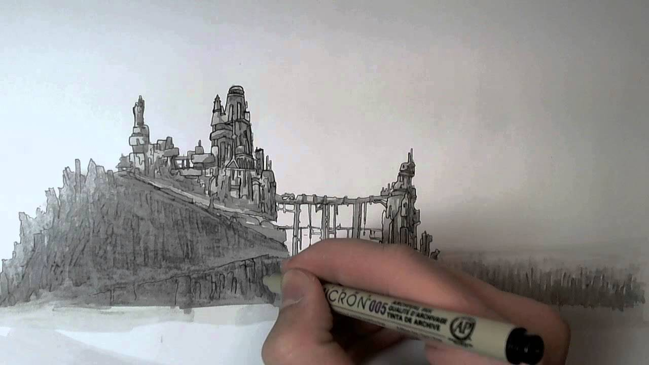 How To Draw Landscape Drawings