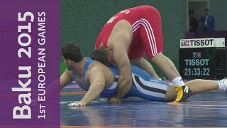 Riza Kayaalp grabs Greco-Roman Gold for Turkey | Wrestling | Baku 2015 European Games