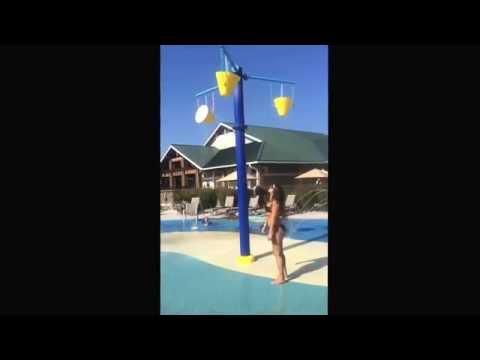 ALS cold water challenge fail . Boob slip
