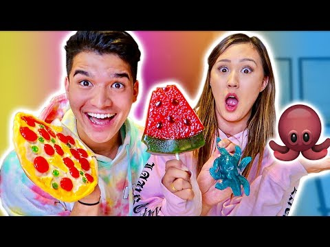 Thumbnail: GUMMY vs REAL FOOD! ft Girlfriend