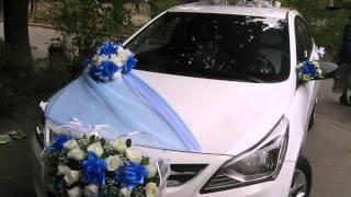 Украшение машины на свадьбу.