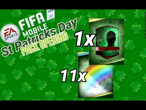 ST PATRICKS DAY PACK OPENING | FIFA 17 MOBILE | [ IOS ...