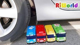 타요 조심해! 리원이의 자동차 장난감 놀이 타요 버스 수리놀이 공구놀이 TAYO be Careful Car Toy Repair Wheel
