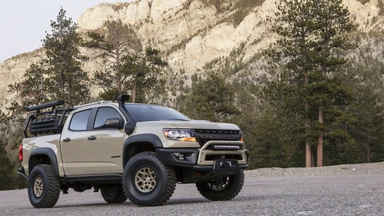 2017 SEMA Chevy Colorado ZR2 AEV and Race Development trucks roll into SEMA - YouTube