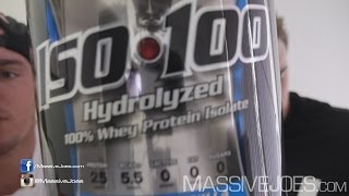 Dymatize ISO100 Hydrolyzed Whey WPI Protein Powder - MassiveJoes.com RAW REVIEW ISO 100