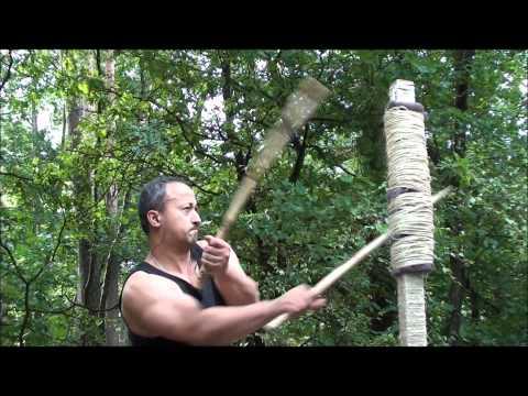eskrima: practicing basic double stick