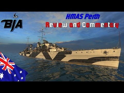World of Warships- Perth Review and Commentary