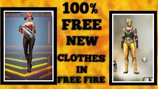 100% FREE TWO NEW COSTUMES IN FREE FIRE 2019 ll OB14 UPDATE FULL DETAIL