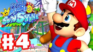 Super Mario Sunshine - Gameplay Walkthrough Part 4 - Pinna Park 100%! (Super Mario 3D All Stars)