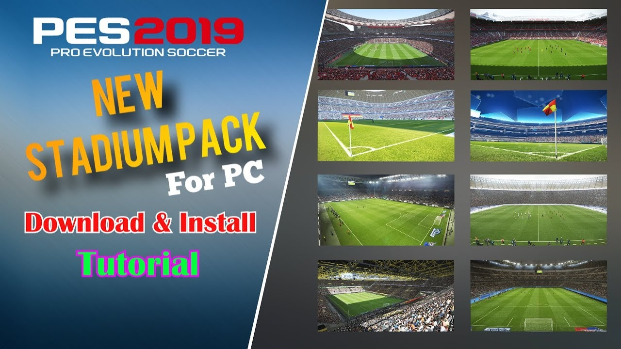 PES 2019 | Download & Install - New Stadium Pack by MJTS for PC |  Fujimarupes