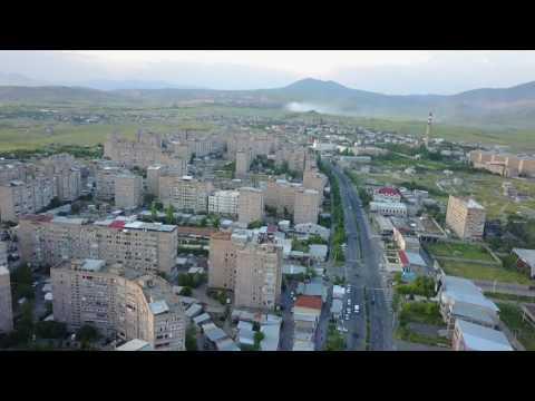 Drone flight over Abovyan City Armenia
