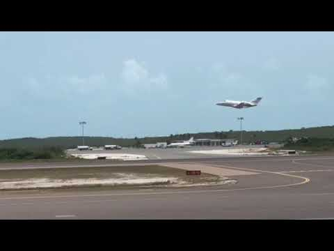 Turks & Caicos private Jet take off!!!