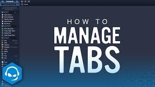How To Manage Tabs In TeamSpeak
