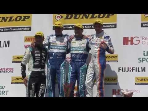 BTCC OULTON PARK - RACE 1 PODIUM - COLIN TURKINGTON, SAM TORDOFF & JASON PLATO