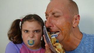 Bad Baby Victoria vs Crybaby Daddy Toy Freaks Annabelle Hidden Eggs Annabelle