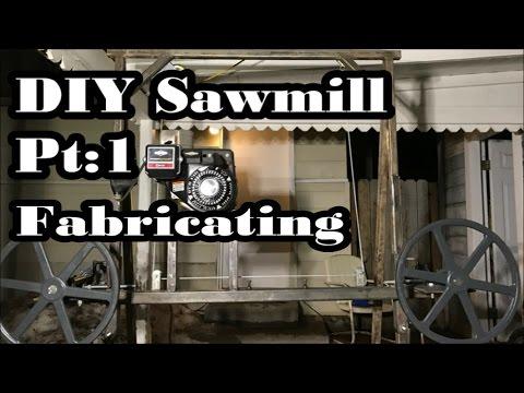 """#69 - DIY Sawmill Pt 1: Homemade, Cheap, Simple 36"""" Log..."""