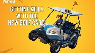 Exploring Lazy Links on the New Golf Cart! (Fortnite Battle Royale Season 5)