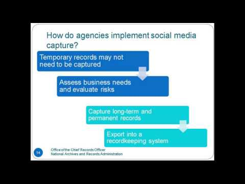 Guidance on Managing Social Media Records