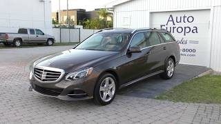 The Mercedes-Benz E Class Wagon is So Good it's the Last One Standing - 2014 E 350 Luxury Review