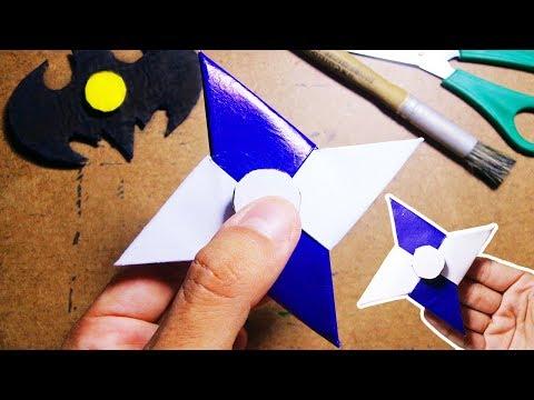 Como fazer um Origami Hand Spinner de Papel | Fidget…