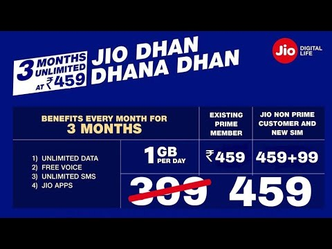 Jio Dhan Dhana 399 Convert Into 459 Here Is The List Of New Tariff Plans