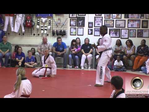 Korea Taekwondo Black Belt test - Nunchucks